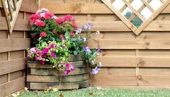 fioriera legno roma