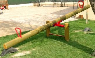 Giochi da giardino in legno a roma modello bilico joe