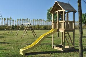 Giochi da giardino in legno a roma modello torretta mambo