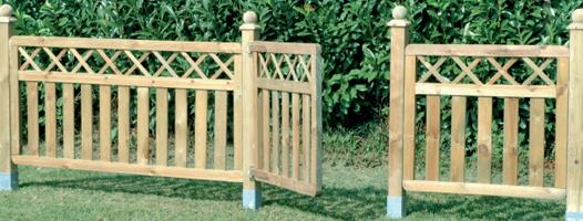 Recinzioni in legno a roma modello river - Staccionate in legno per giardini ...