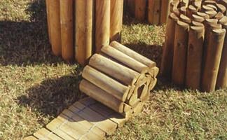 Bordure legno roma arrotolate