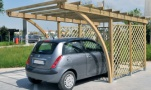 carport, coperture per auto in legno a roma modello Everest - anteprima