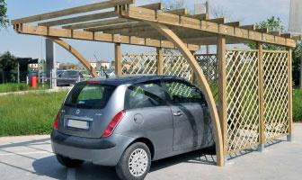 Carport, copertura auto legno roma Everest