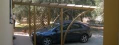 carport, coperture per auto in legno a roma modello Faloria - anteprima