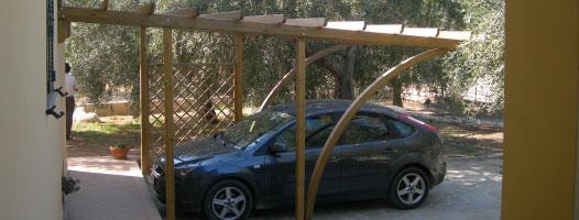 Carport, copertura auto legno roma Faloria