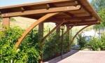 carport, coperture per auto in legno a roma modello K2 - anteprima
