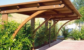 Carport, copertura auto legno roma K2