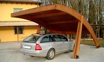 Carport coperture per auto in legno a roma modello kerto for Coperture in legno per auto usate