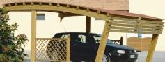 carport, coperture per auto in legno a roma modello Olimpo - anteprima