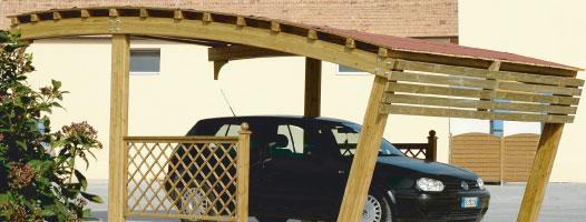 Carport, copertura auto legno roma Olimpo