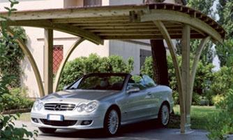 Carport, copertura auto legno roma Vesuvio