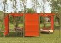 gazebo da giardino in legno a roma modello Baku - anteprima