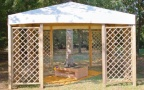 gazebo da giardino in legno a roma modello Capri - anteprima