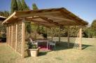 gazebo da giardino in legno a roma modello Malmo - anteprima