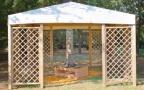 gazebo da giardino in legno a roma modello Venezia - anteprima