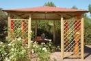 gazebo da giardino in legno a roma modello Roma - anteprima