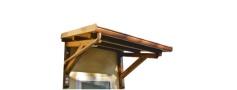 Pensilina in legno a roma modello Viola - anteprima