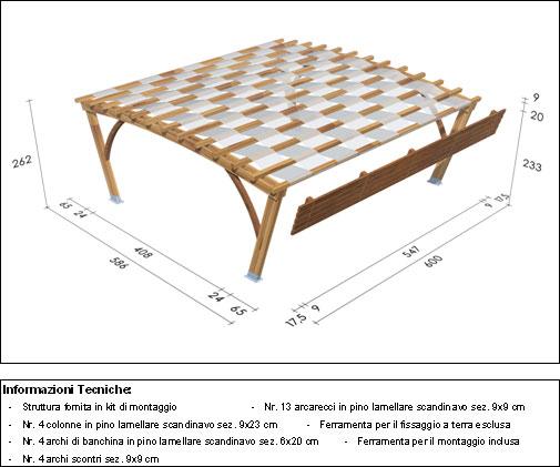 Pergola, roma Bridge disegno tecnico medio