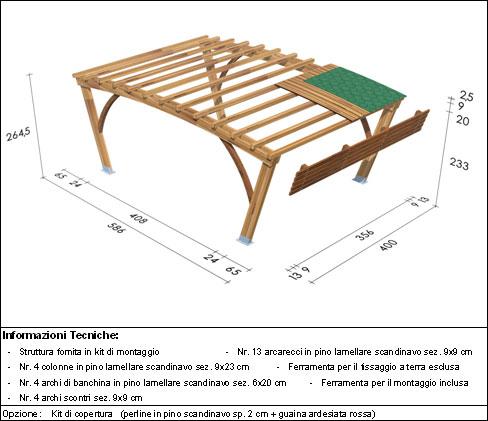 Pergola, roma Bridge disegno tecnico grande
