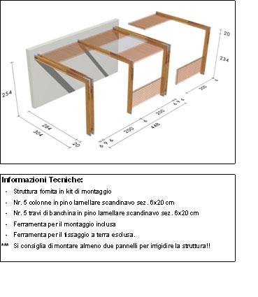 Pergola, roma Cube disegno tecnico