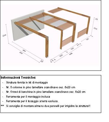 Pergola, roma Cube disegno tecnico grande