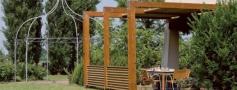 pergola in legno a roma modello Cube - anteprima