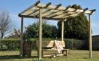 pergola in legno a roma modello Ground - anteprima