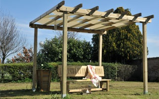 Pergola, legno roma Ground