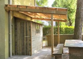 Pergola, legno roma Wall